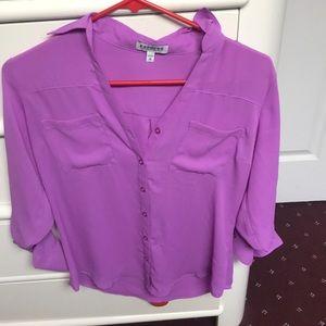 Purple/pink long sleeve Portofino shirt